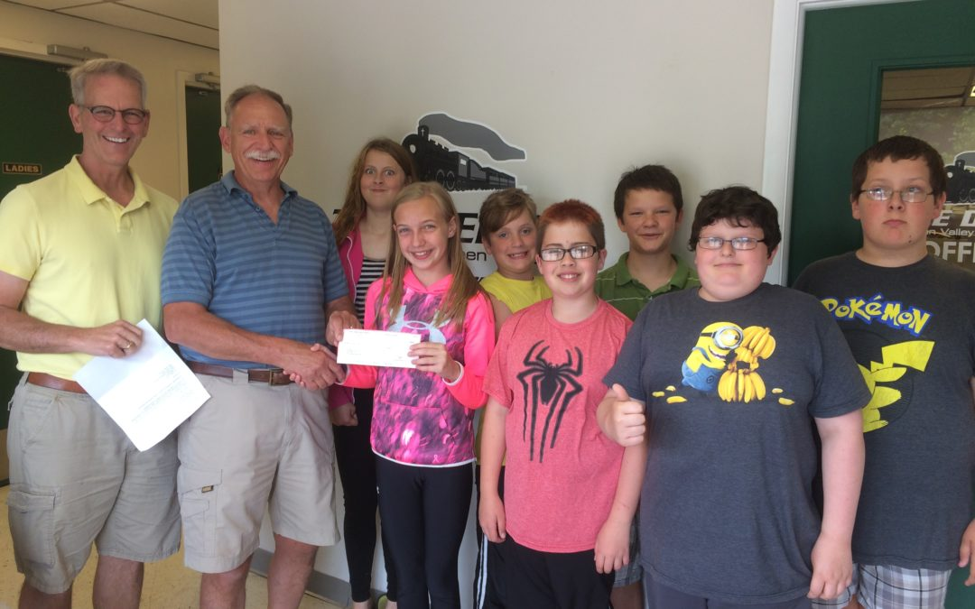Kids donate $550 to The Depot