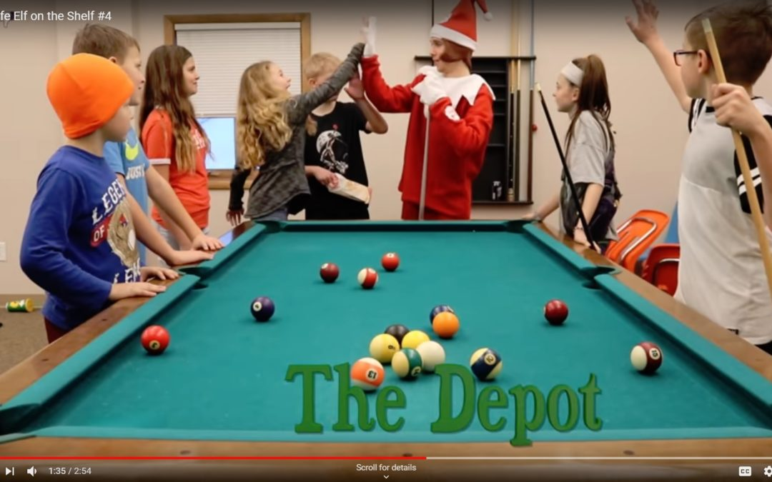 Real Life Elf on the Shelf visits The Depot