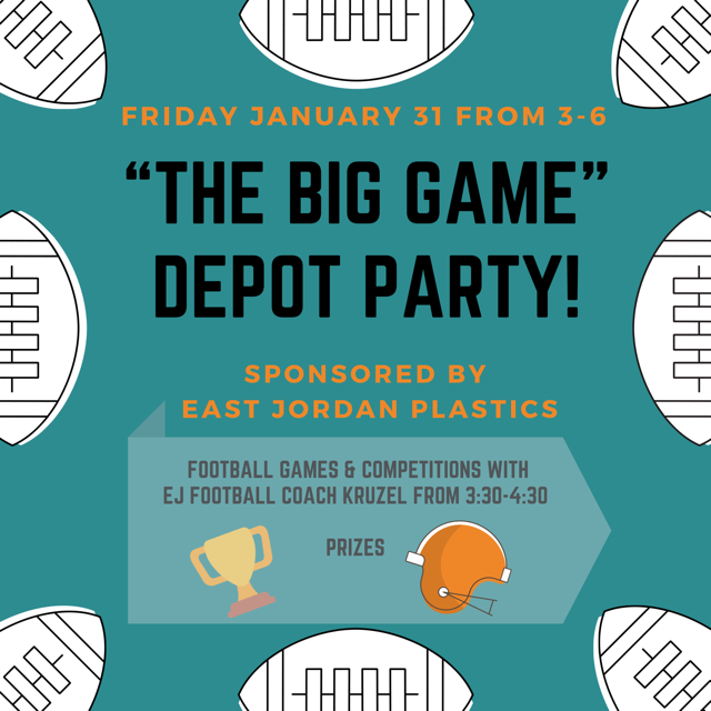 """THE BIG GAME"" Depot Party"
